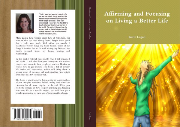 Website Exclusive Law of Attraction Book - Affirming and Focusing on Living a Better Life Paperback Book with audio recording CD