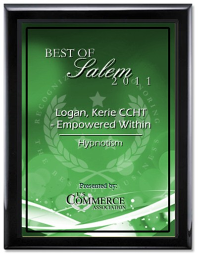 2011PlaqueGreen hypnosis salem oregon - 2011PlaqueGreen7 - Hypnosis Salem Oregon – Four Time Award Winner Best Hypnotist