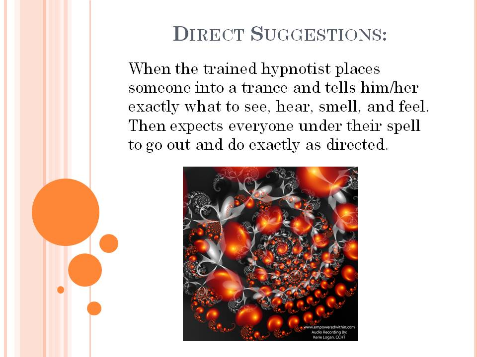 Direct Suggestions how does hypnosis work How does Hypnosis Work Direct Suggestions
